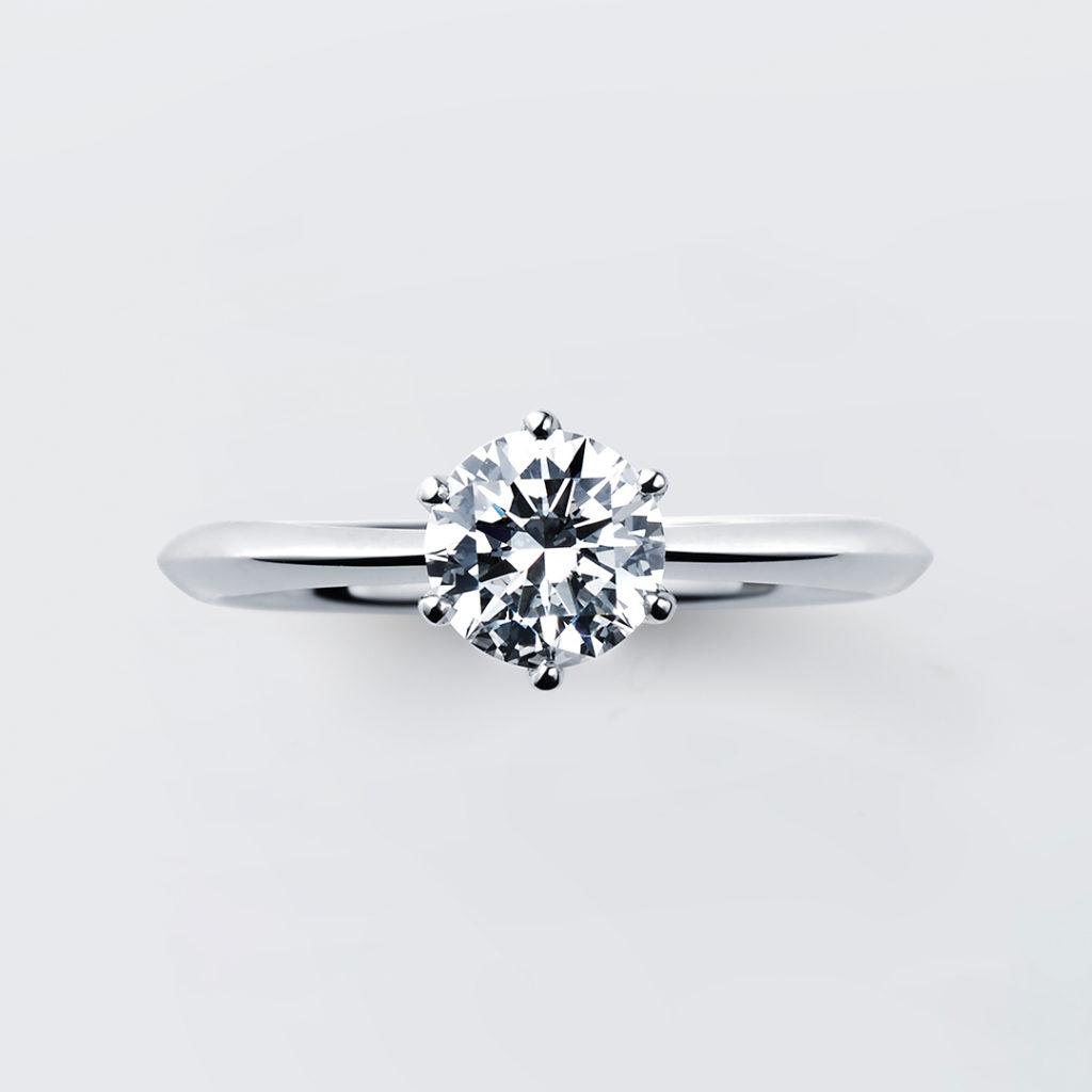 Garbera 婚約指輪 シンプル ストレート プラチナ