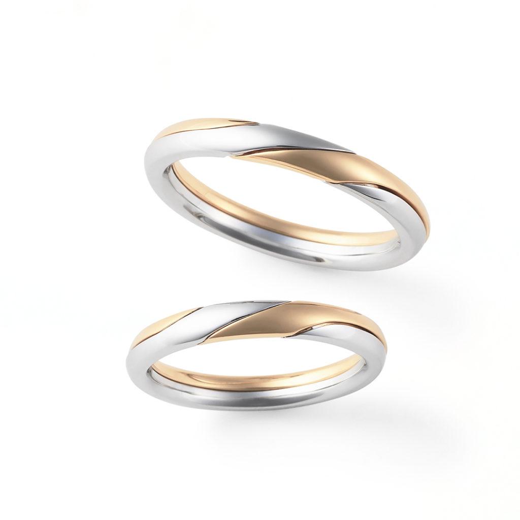 Gimmel Ring 結婚指輪 個性派 ストレート プラチナ イエローゴールド
