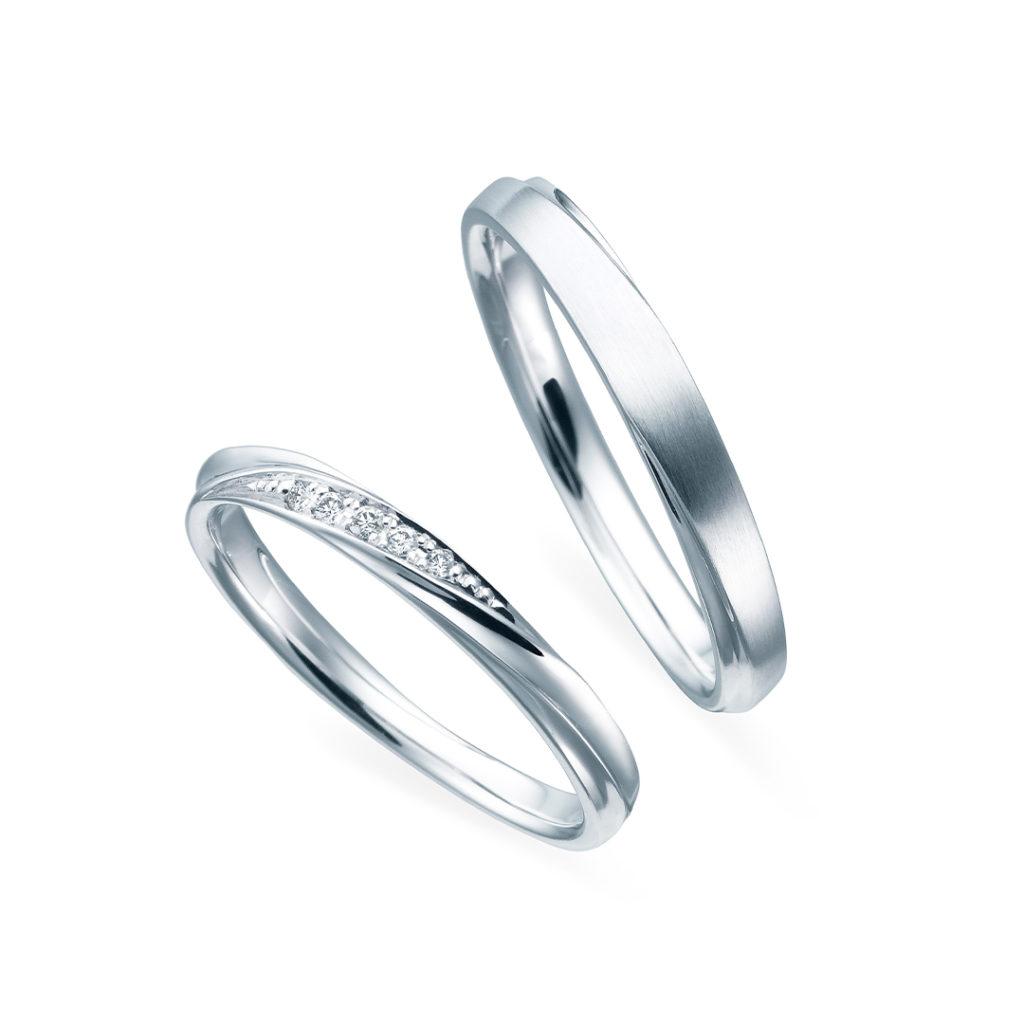 GroryDay-グローリーディ- 結婚指輪 シンプル エレガント S字(ウェーブ)