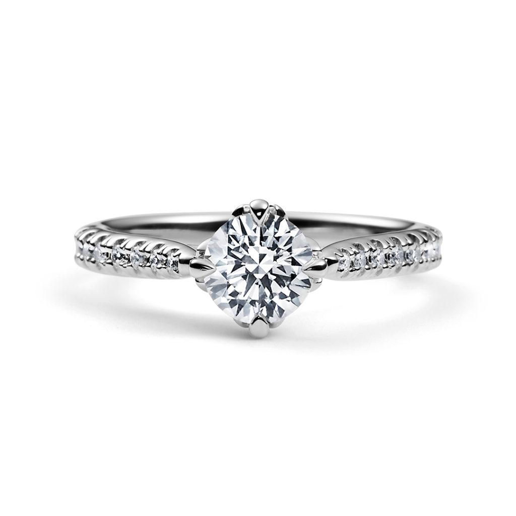 HANAAKARI 婚約指輪 エレガント 個性派 ストレート プラチナ
