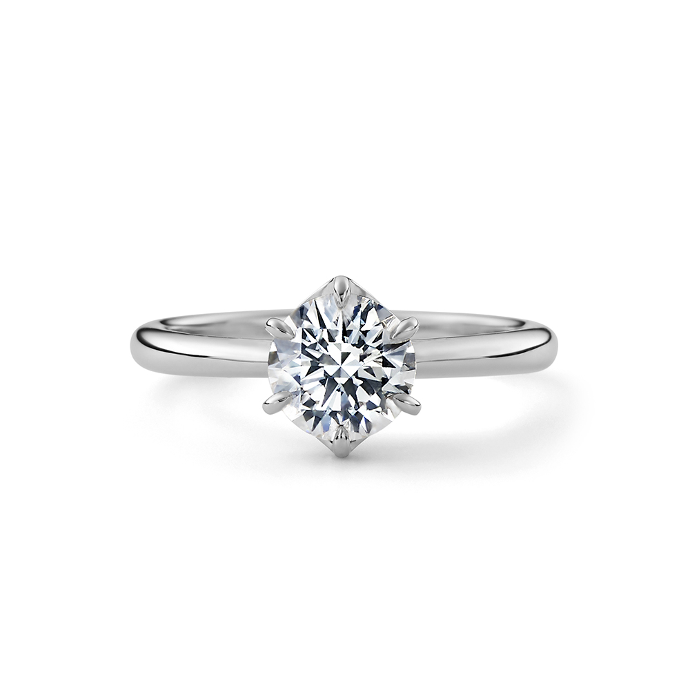 HANASHIPPO 婚約指輪 シンプル エレガント ストレート プラチナ