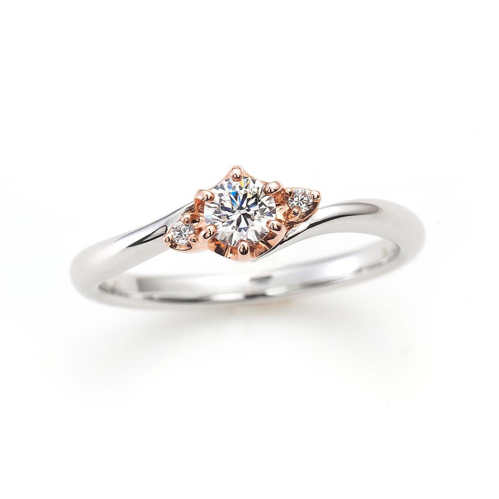HONEY 婚約指輪 キュート S字(ウェーブ) プラチナ