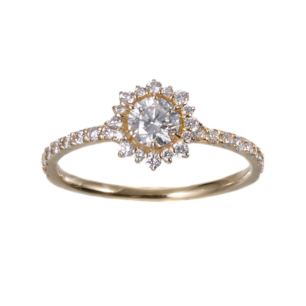 JURER RING-ジューリ- 婚約指輪 エレガント 個性派 ストレート イエローゴールド