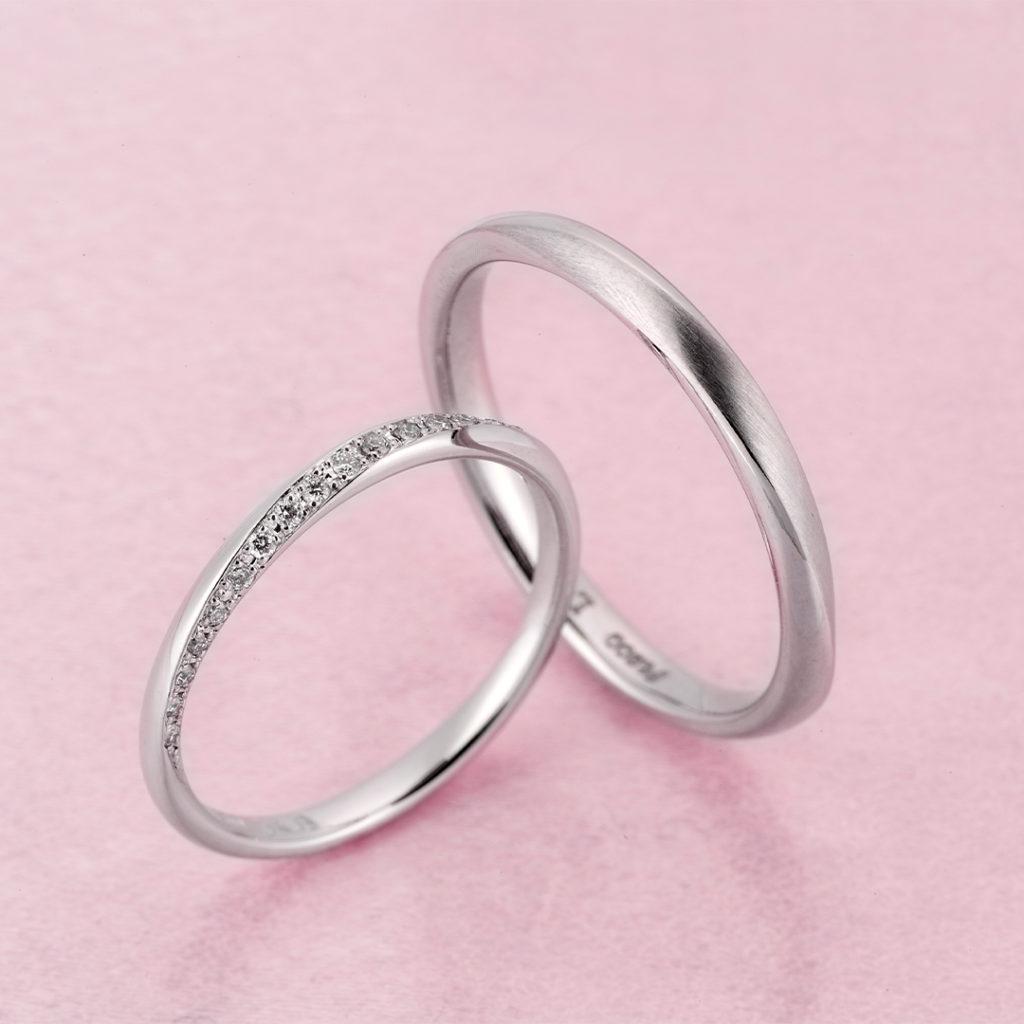 Jupiter 結婚指輪 シンプル エレガント ストレート プラチナ