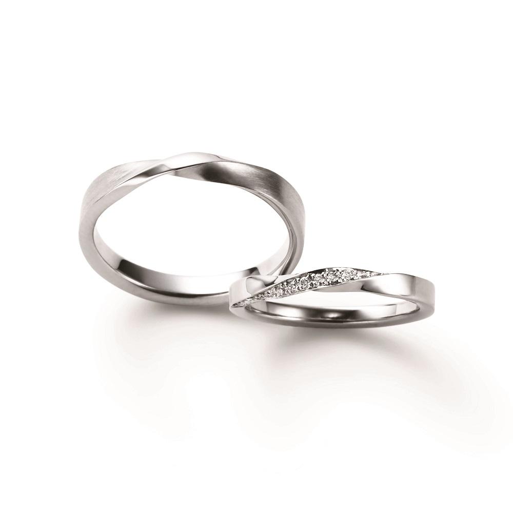 KOYORI 結婚指輪 シンプル エレガント 個性派 S字(ウェーブ) プラチナ
