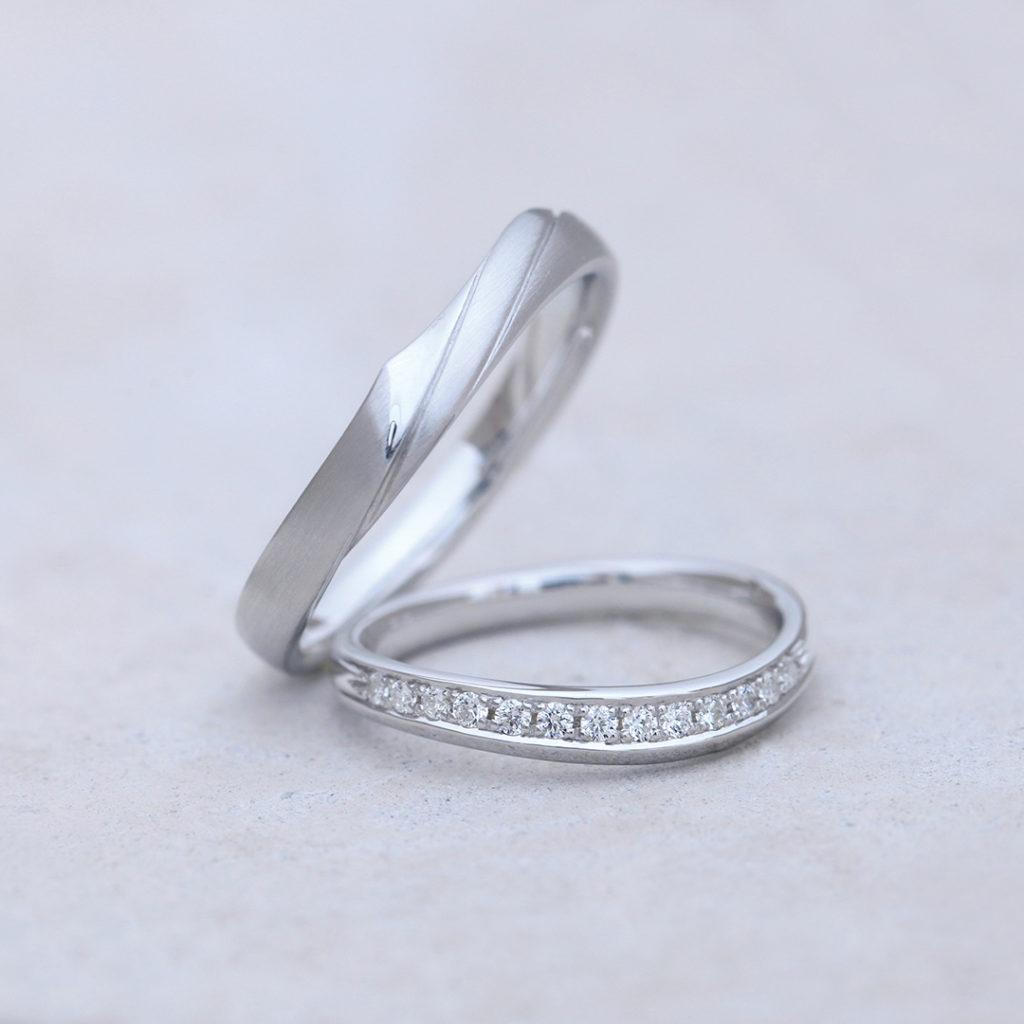KURUMI 結婚指輪 エレガント S字(ウェーブ) プラチナ