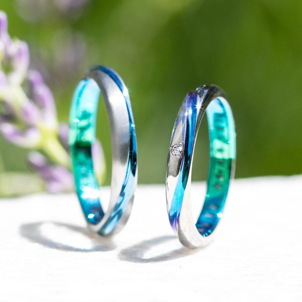 LUCIA 結婚指輪 個性派 ストレート ジルコニウム