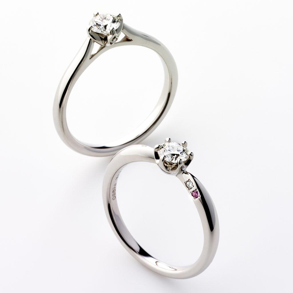 LYCKA 婚約指輪 シンプル エレガント ストレート プラチナ