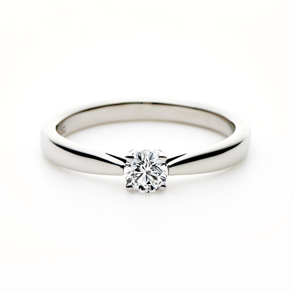 LYS 婚約指輪 シンプル ストレート プラチナ