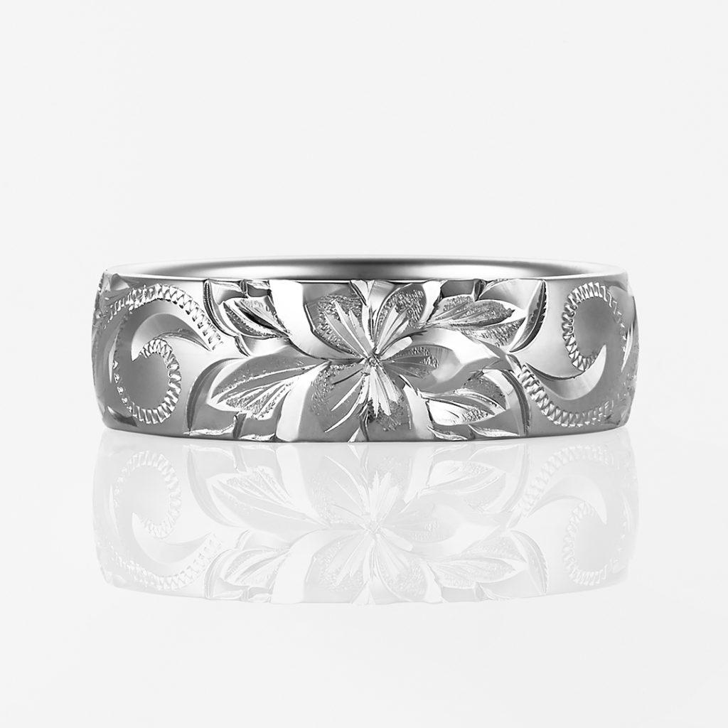 Lala Nalu-Plain Barrel- 結婚指輪 シンプル 個性派 ストレート 幅広 プラチナ
