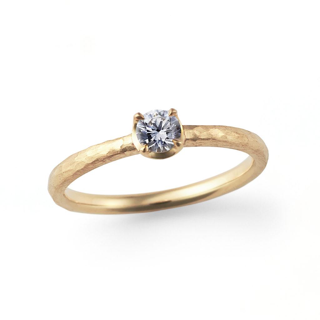 Lovers Walk 婚約指輪 アンティーク 個性派 ストレート イエローゴールド