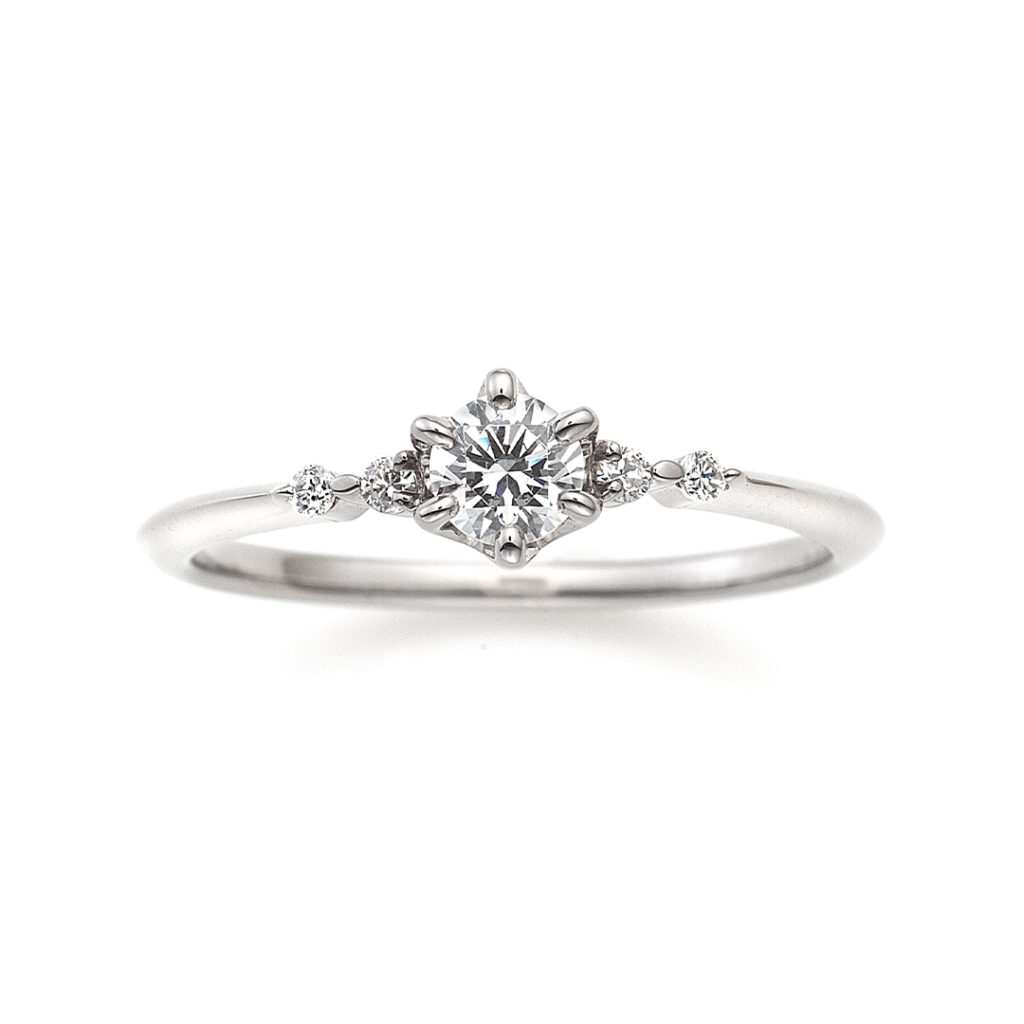 Lullaby 婚約指輪 シンプル S字(ウェーブ) プラチナ