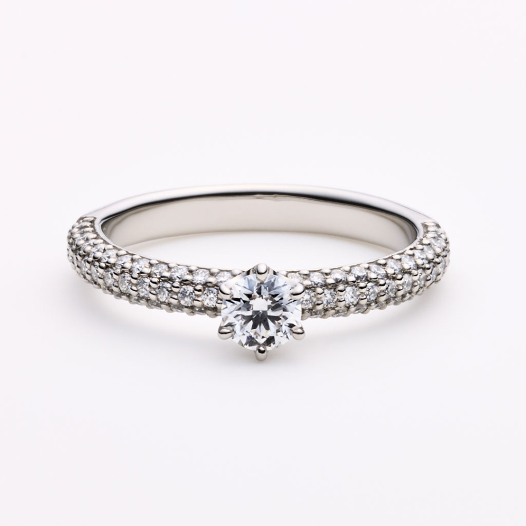 MARLENE 婚約指輪 エレガント 個性派 ストレート プラチナ