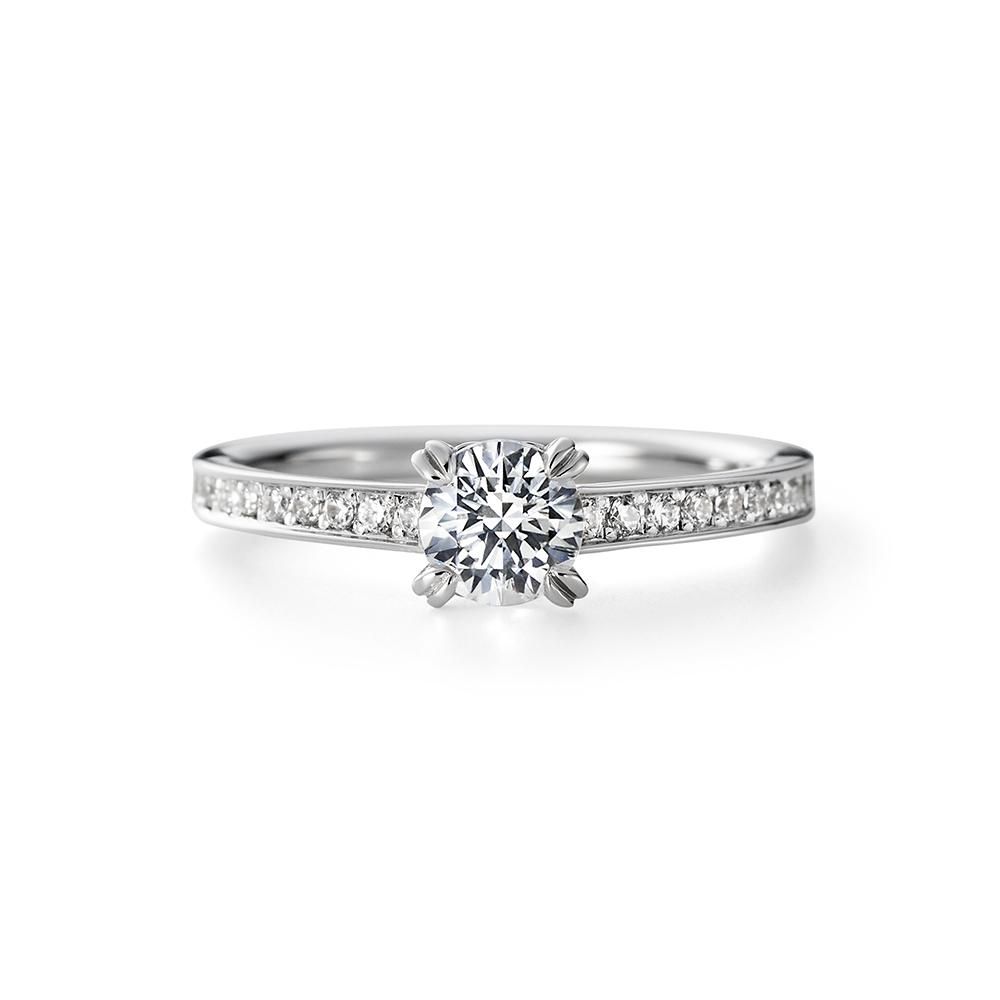 MASAME 婚約指輪 シンプル エレガント ストレート プラチナ