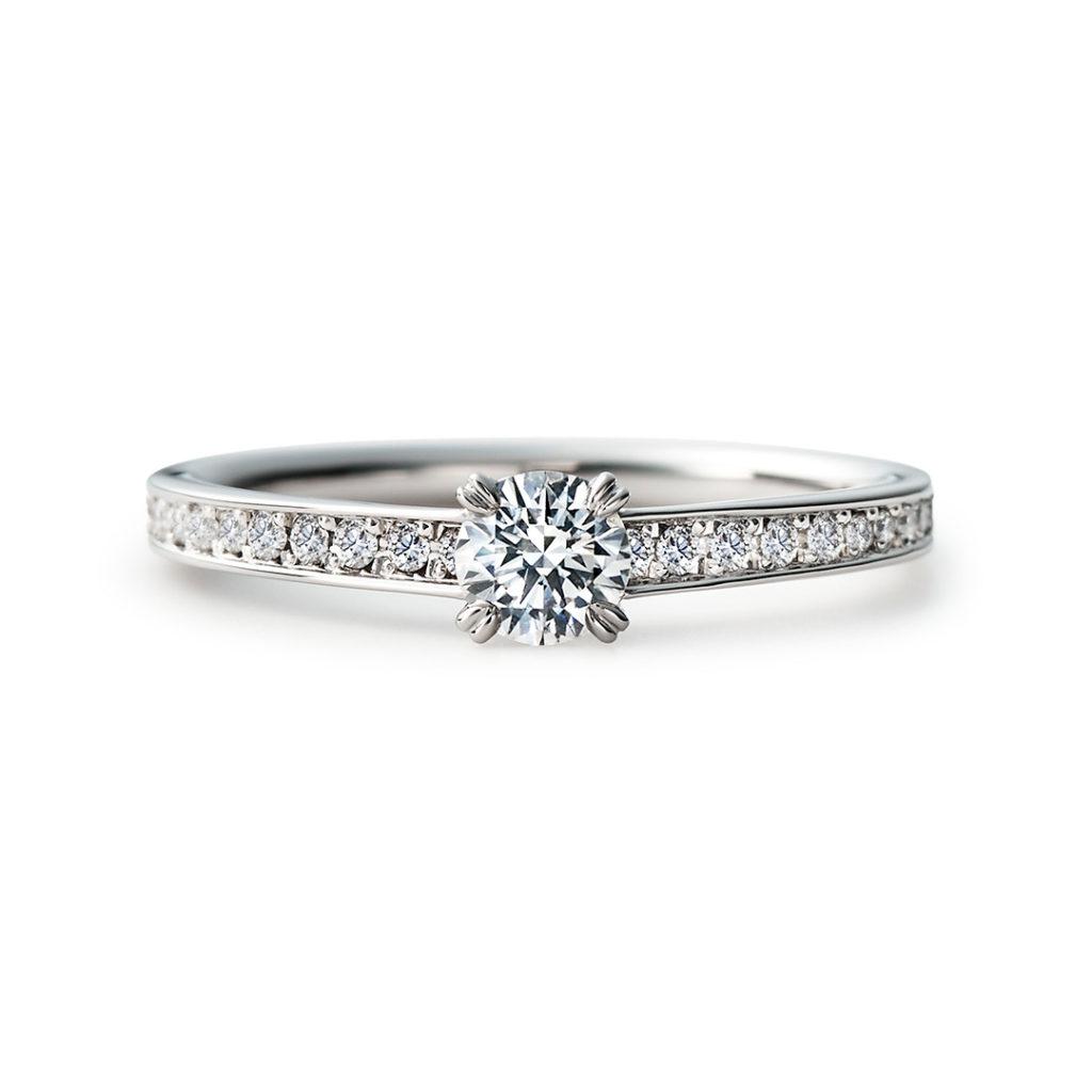 MASAME 婚約指輪 シンプル エレガント 個性派 ストレート プラチナ