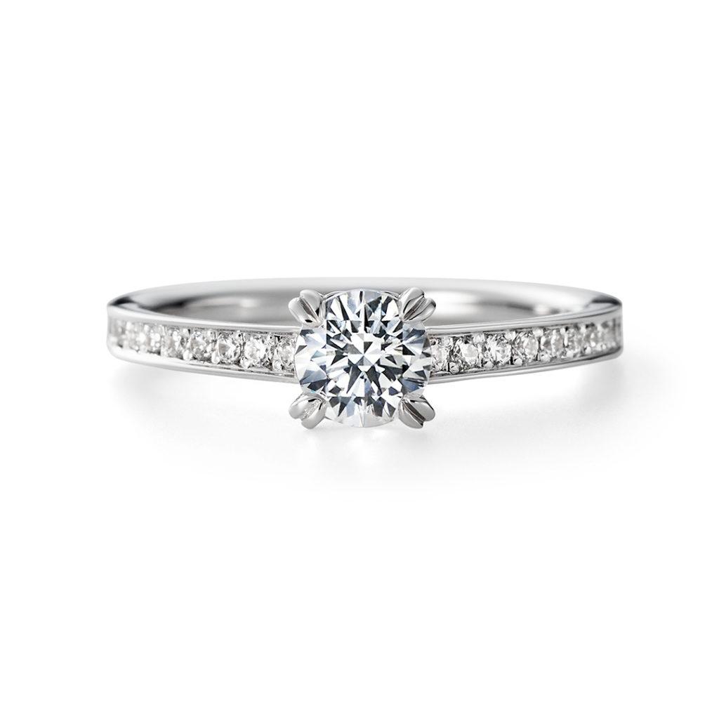 TOMOE 婚約指輪 シンプル エレガント ストレート プラチナ