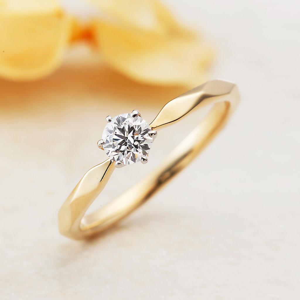 MILLE MERCIS-ミルメルシー- 婚約指輪 アンティーク キュート 個性派 ストレート プラチナ イエローゴールド