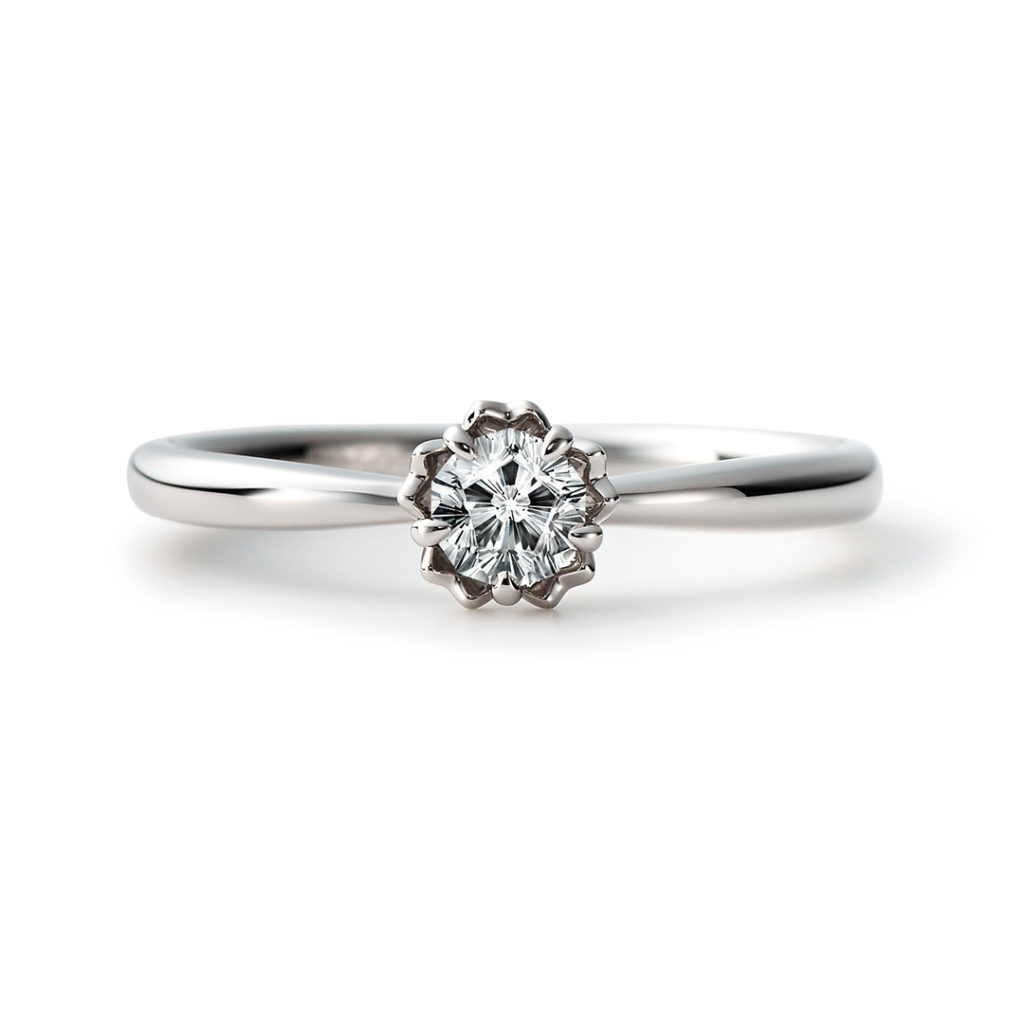 MIO 婚約指輪 キュート 個性派 ストレート プラチナ