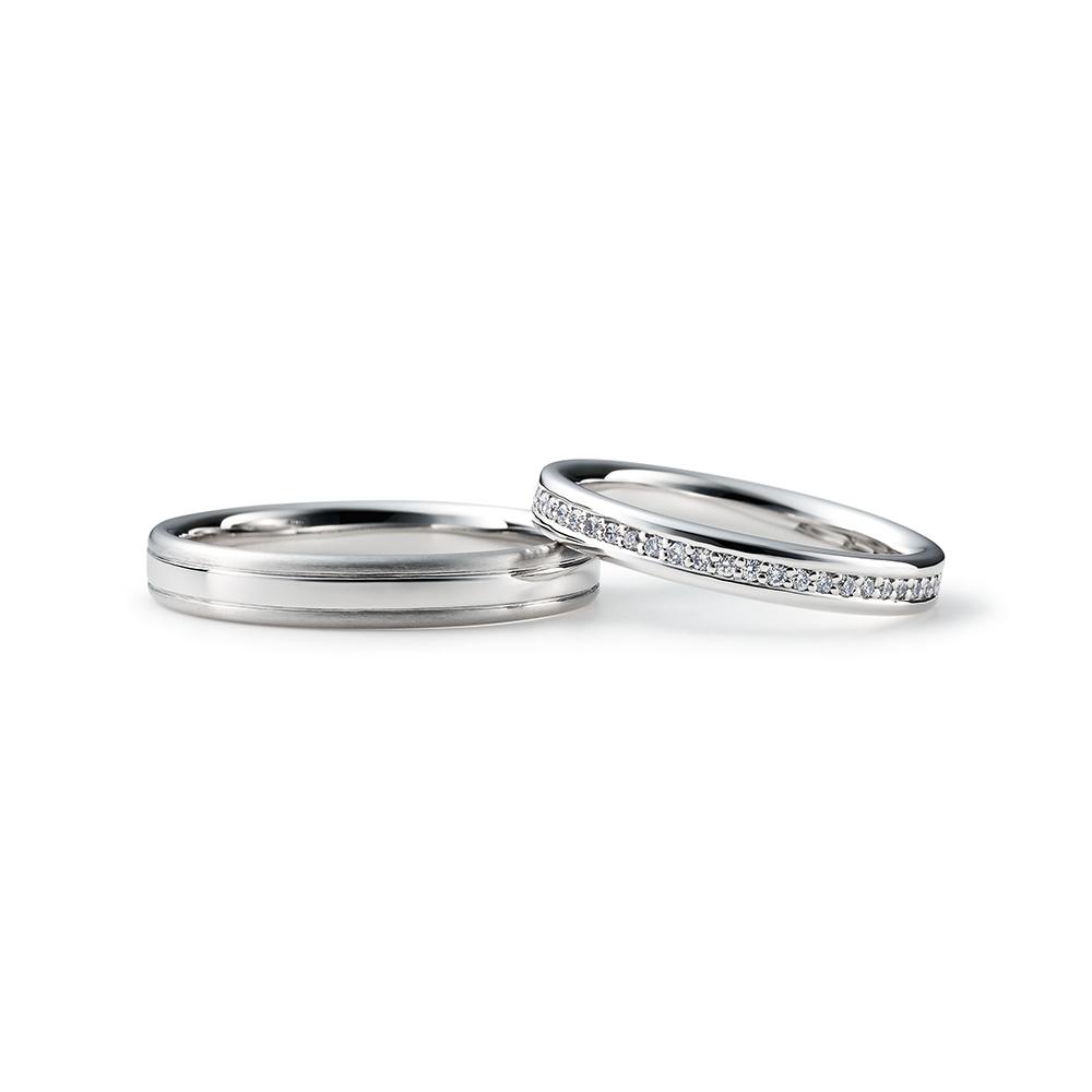 MIYUKI 結婚指輪 シンプル エレガント ストレート プラチナ