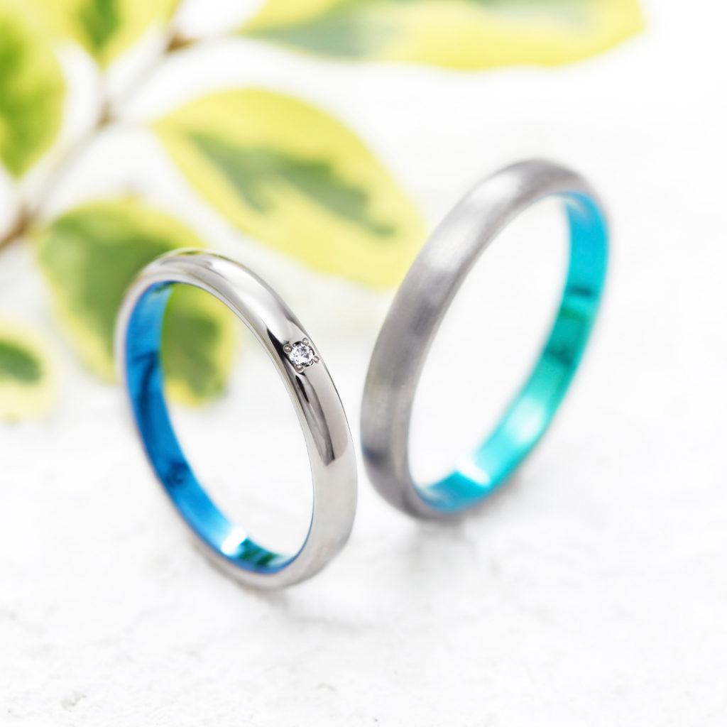 MONTE 結婚指輪 個性派 ストレート ジルコニウム