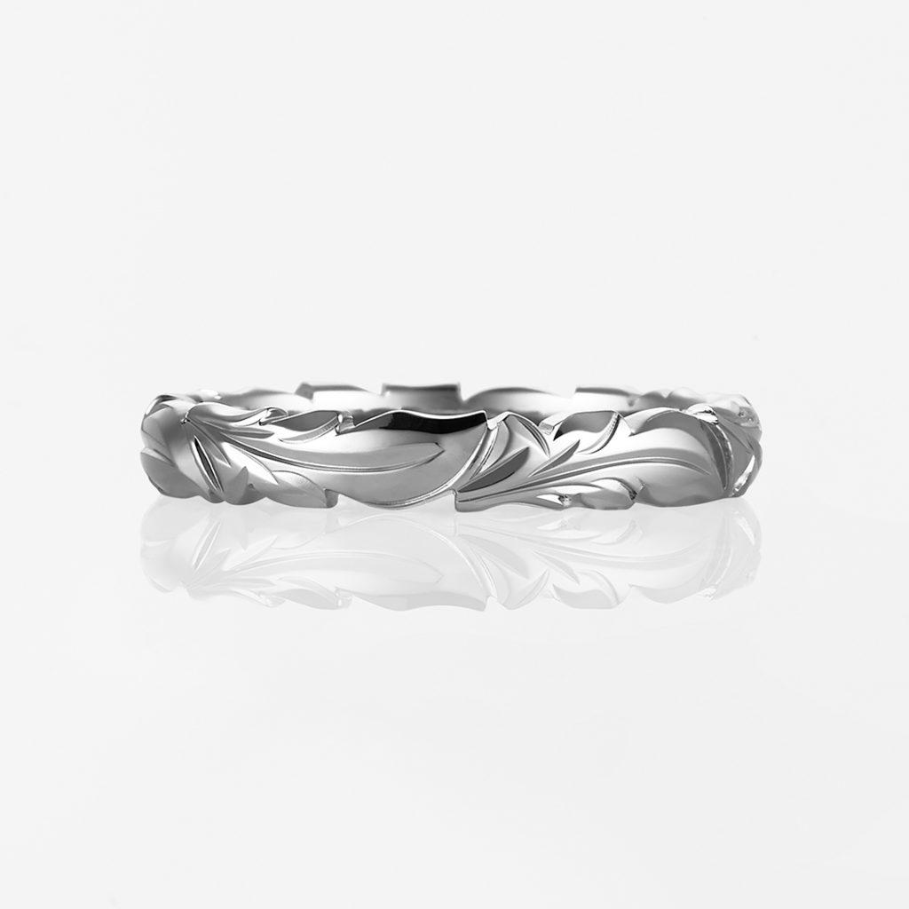 Mana-Plain Barrel Cutout- 結婚指輪 個性派 ストレート プラチナ