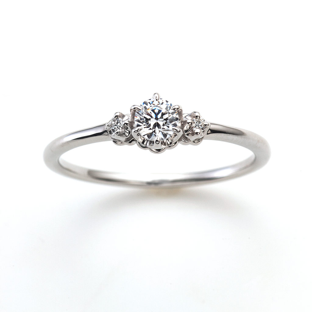 Marry me !! 婚約指輪 シンプル アンティーク ストレート プラチナ