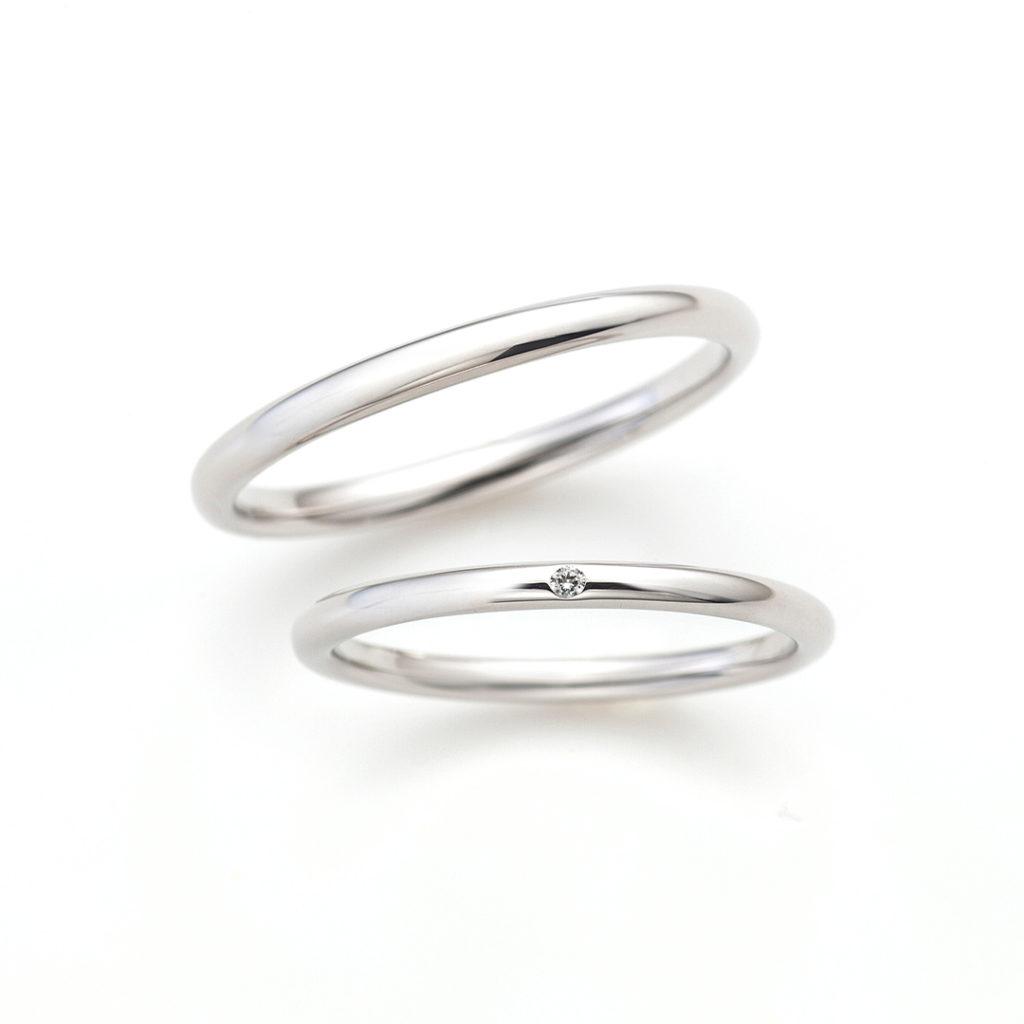 Marry me !! 結婚指輪 シンプル ストレート プラチナ