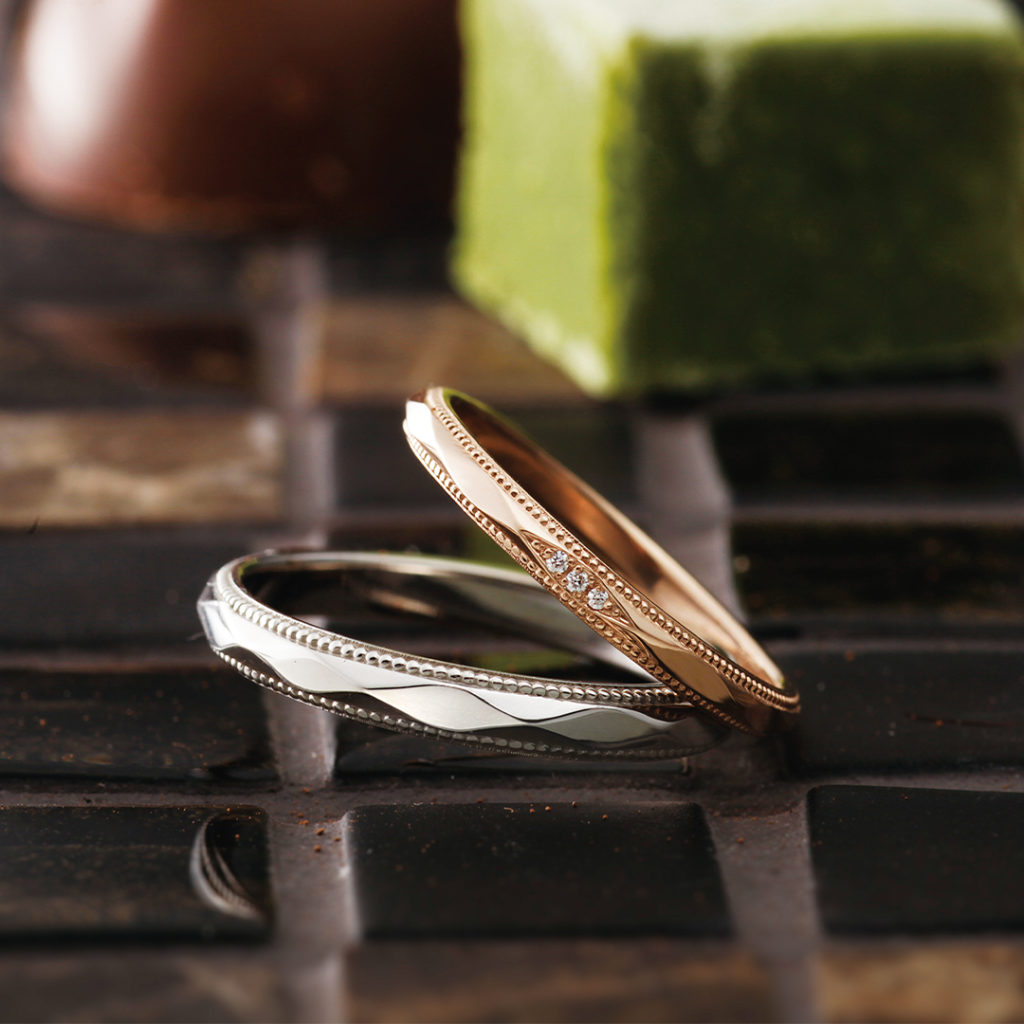 Matin 結婚指輪 エレガント アンティーク ストレート プラチナ