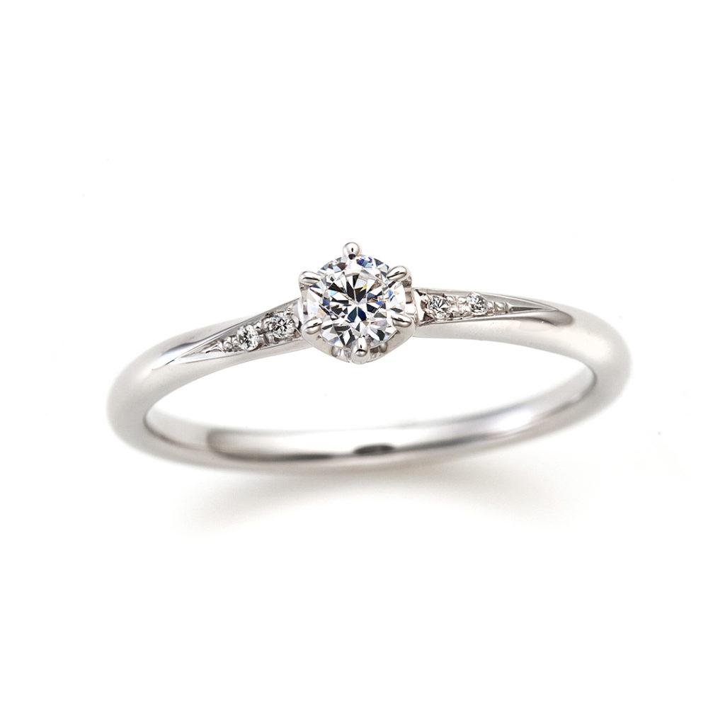Meteor 婚約指輪 シンプル ストレート プラチナ