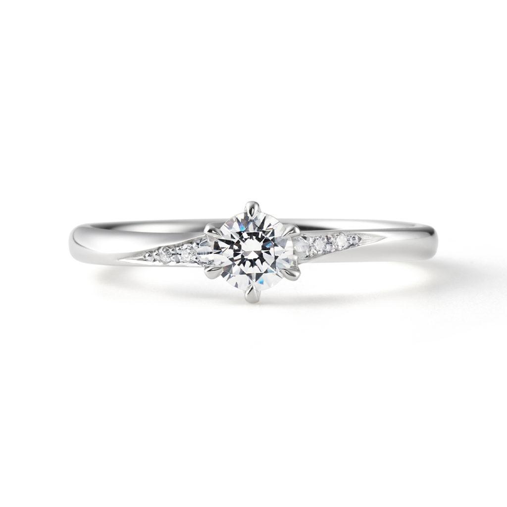 Meteor 婚約指輪 シンプル エレガント ストレート プラチナ