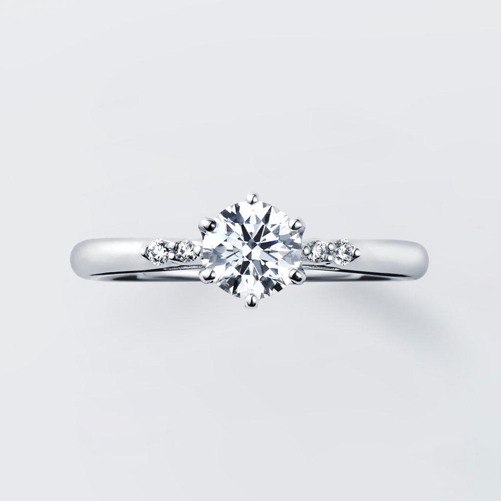 Mimosa 婚約指輪 シンプル エレガント ストレート プラチナ