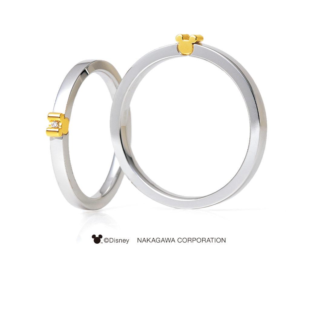 NOVA [新星] 結婚指輪 シンプル キュート 個性派 ストレート プラチナ コンビ