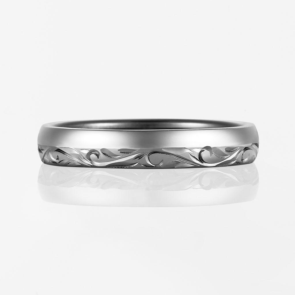Nalu-Combination Barrel- 結婚指輪 シンプル 個性派 ストレート コンビ