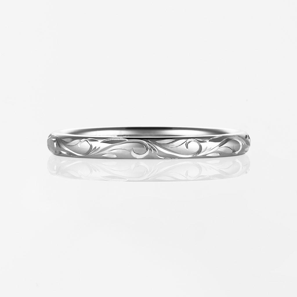 Nalu-Plain Barrel- 結婚指輪 シンプル 個性派 ストレート プラチナ