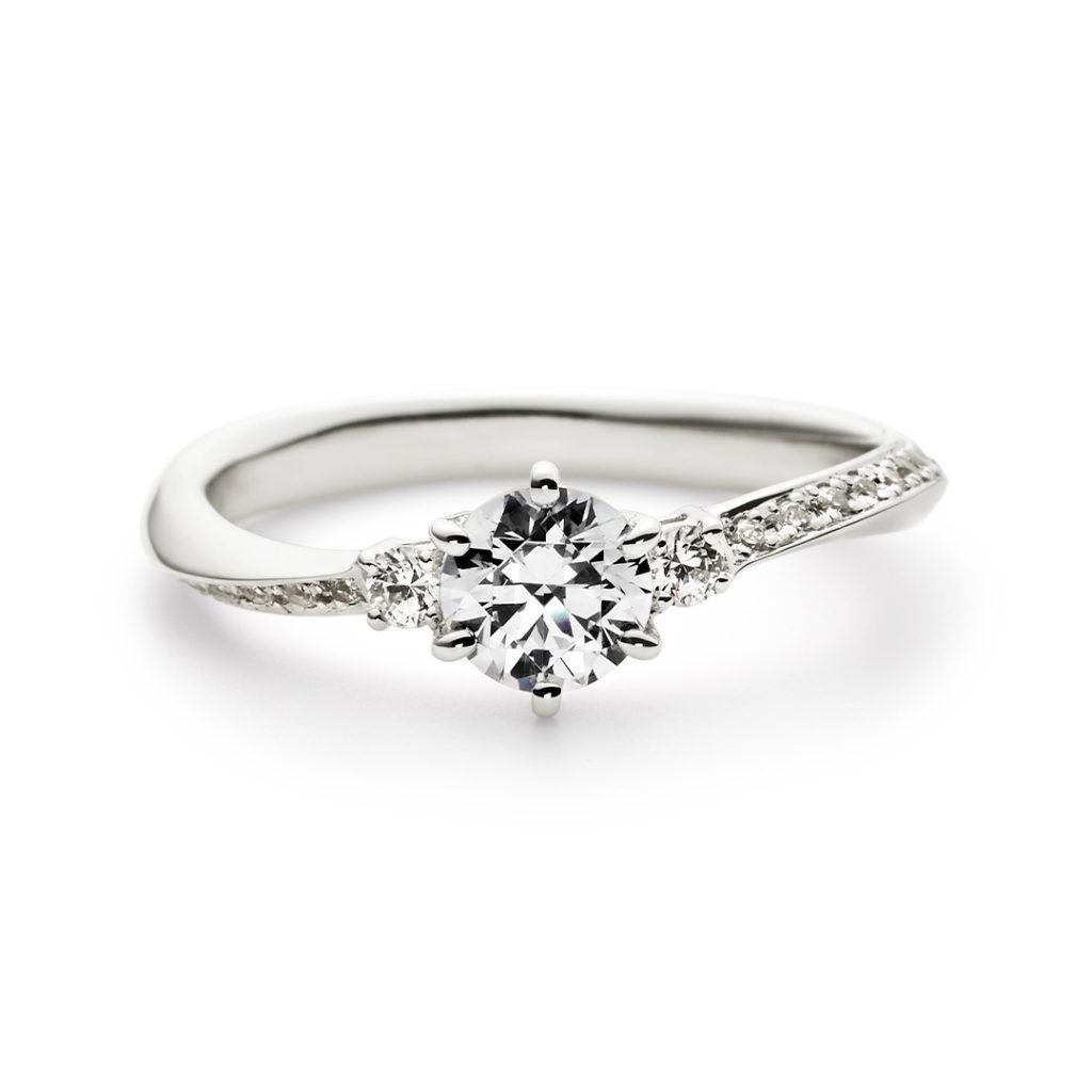 OLA 婚約指輪 エレガント S字(ウェーブ) エタニティ プラチナ
