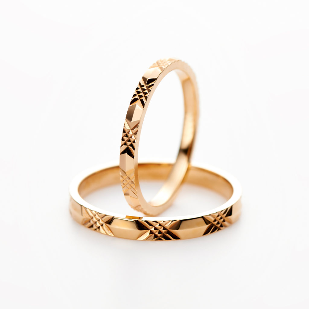 Olivier odorant 結婚指輪 キュート 個性派 ストレート ピンクゴールド