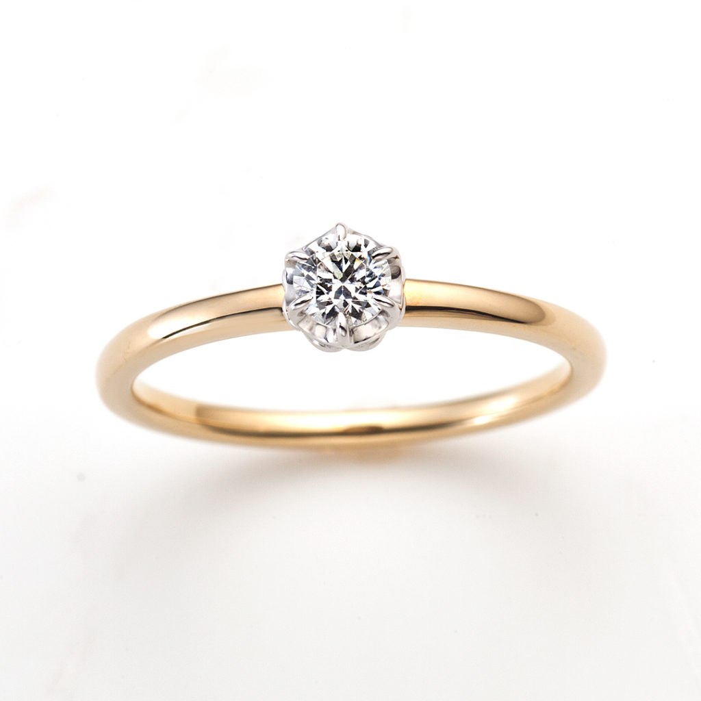 One & Only 婚約指輪 シンプル ストレート コンビ