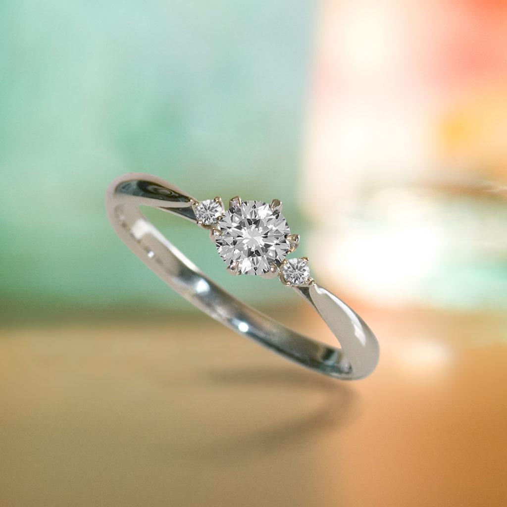Orion 婚約指輪 エレガント ストレート プラチナ