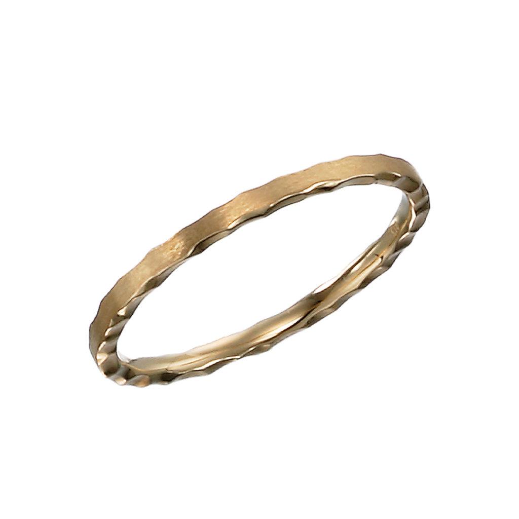 PAVE RING 結婚指輪 アンティーク 個性派 ストレート イエローゴールド