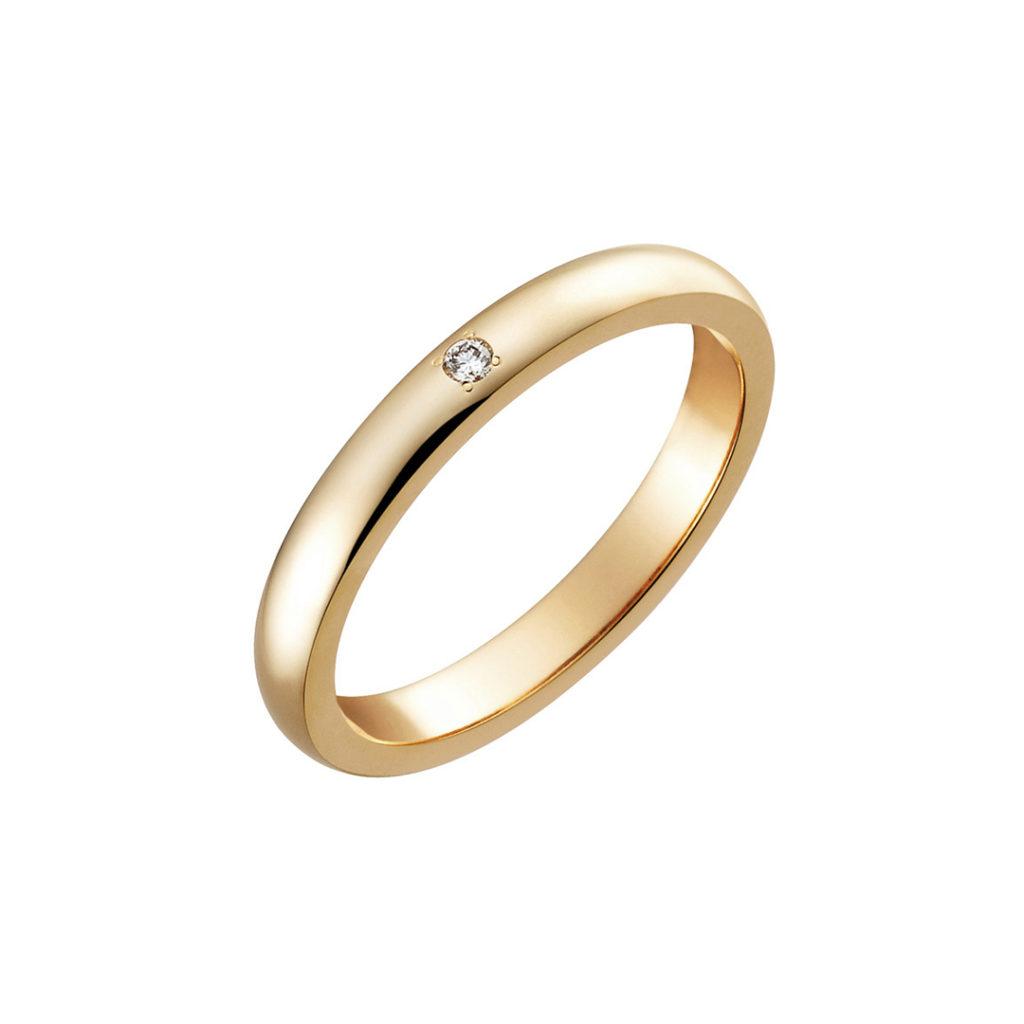 Cocoa 結婚指輪 エレガント アンティーク ストレート ピンクゴールド