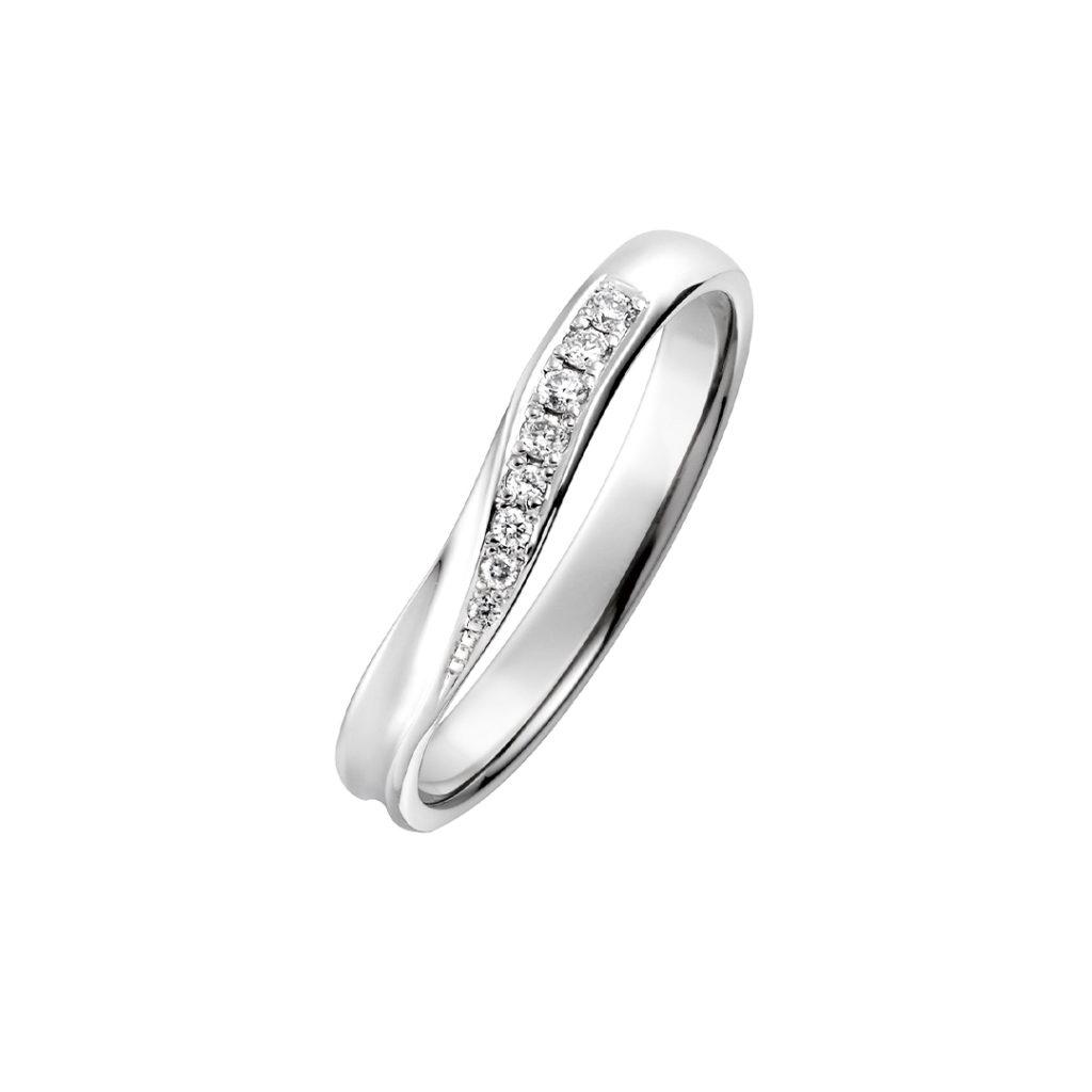 Foster 結婚指輪 シンプル S字(ウェーブ) プラチナ