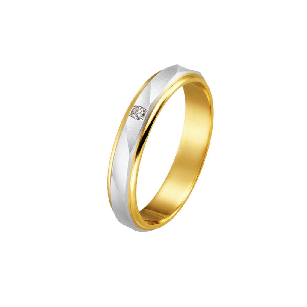 Sunny place 結婚指輪 シンプル アンティーク ストレート 幅広 コンビ