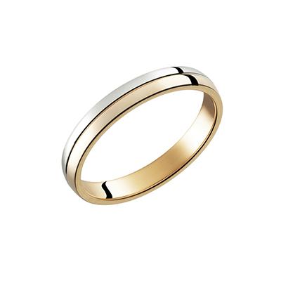 PIM915-E300ZM 結婚指輪 シンプル アンティーク ストレート ピンクゴールド コンビ