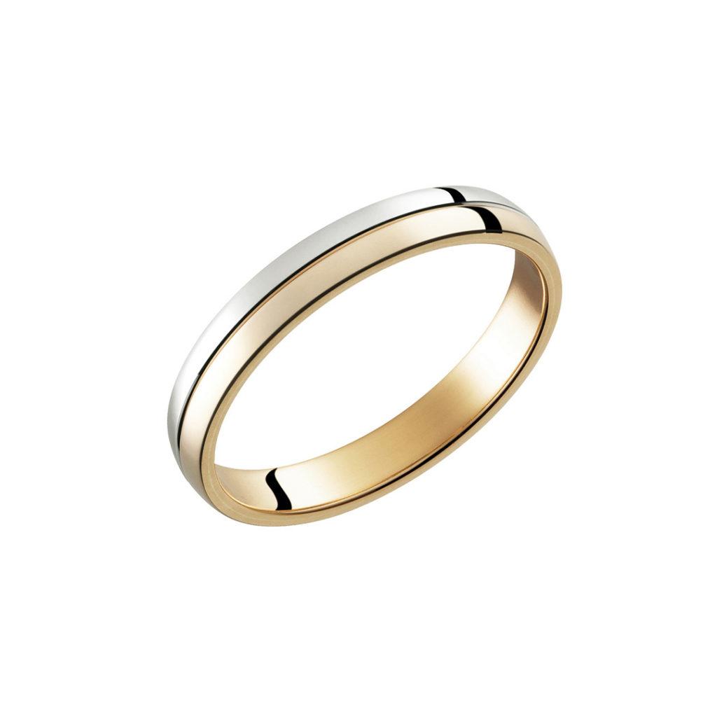 Password 結婚指輪 シンプル アンティーク ストレート ピンクゴールド コンビ