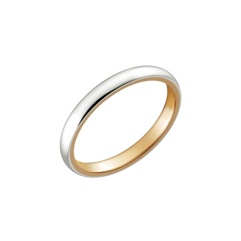 Thank you 結婚指輪 シンプル アンティーク ストレート ピンクゴールド コンビ