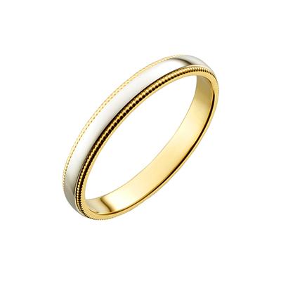 PIM919-E800ZM 結婚指輪 シンプル アンティーク ストレート イエローゴールド コンビ