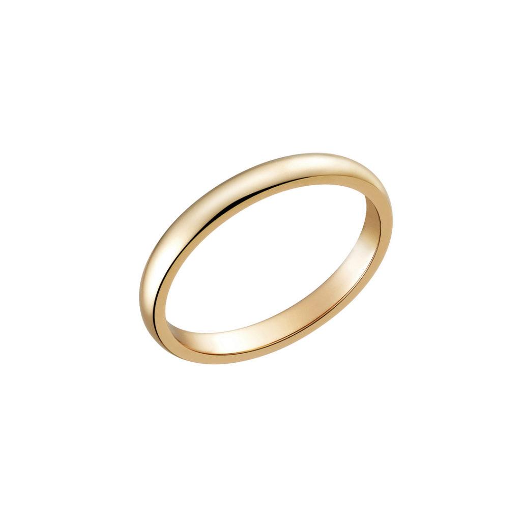 Cocoa 結婚指輪 シンプル エレガント ストレート ピンクゴールド