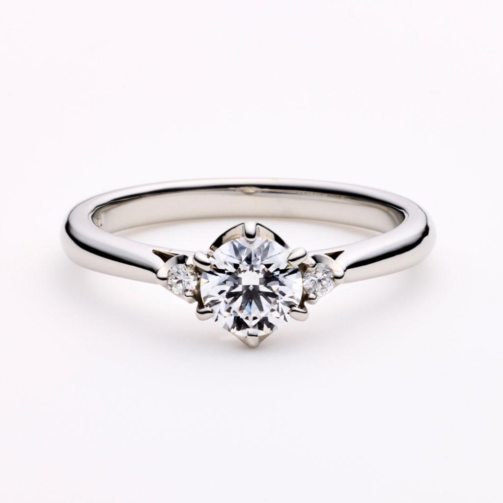 PROPOSTA 婚約指輪 シンプル エレガント ストレート プラチナ