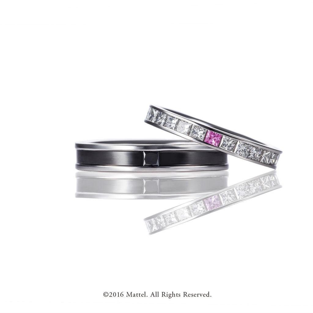 Party 結婚指輪 エレガント キュート 個性派 ストレート プラチナ
