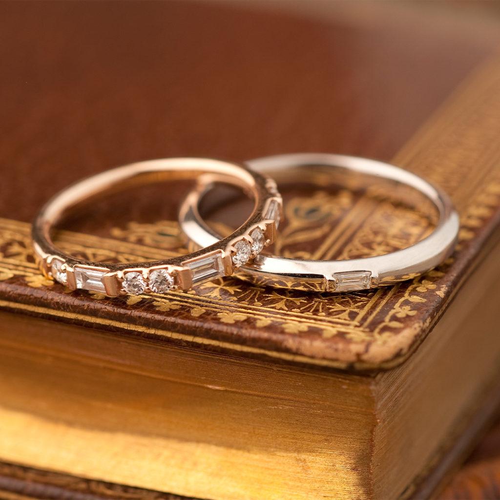 Pillier 結婚指輪 アンティーク 個性派 ストレート イエローゴールド